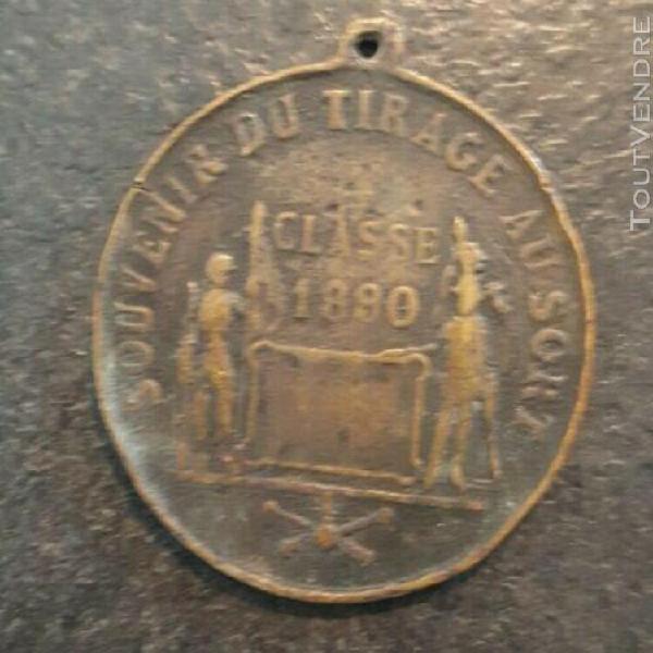 Medaille bronze - souvenir du tirage au sort - 1890