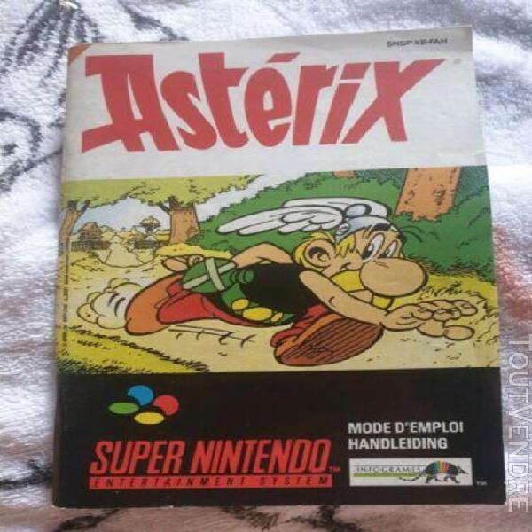 Notice jeux video console super nintendo snes asterix