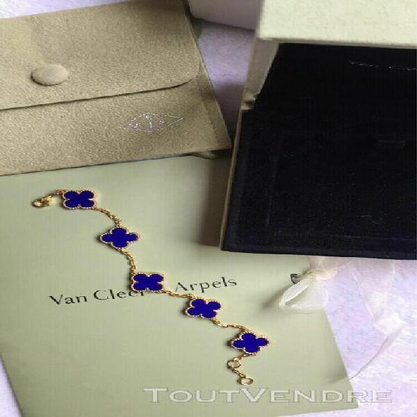 Van cleef - arpels vintage alhambra bracelet 5 motifs carnel