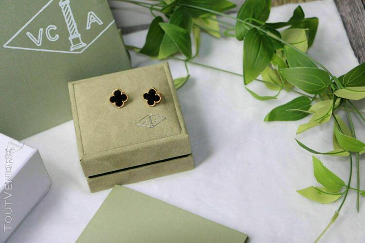 Van cleef & arpels vintage alhambra earrings yellow gold ony