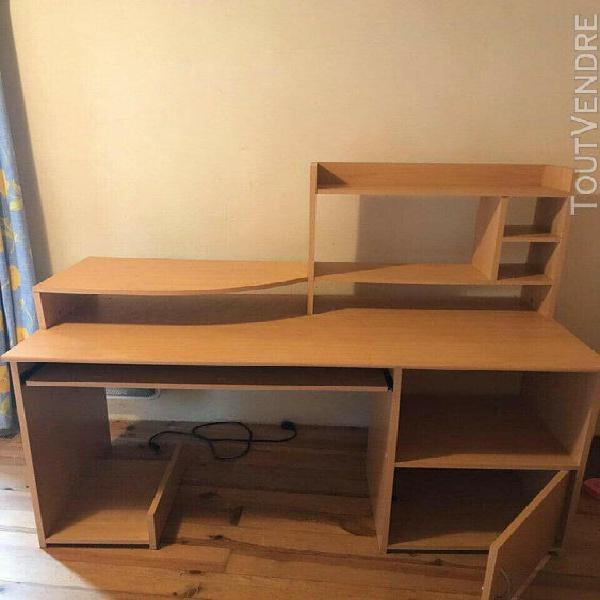 Chambre complète bois - 1 lit superposé, 1 lit simple, 1