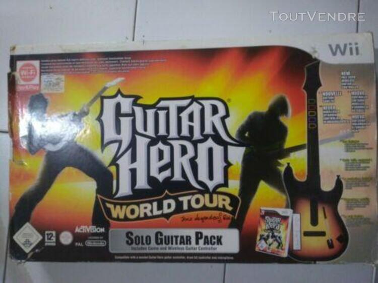 Guitar héro world tour wii avec légende of rock