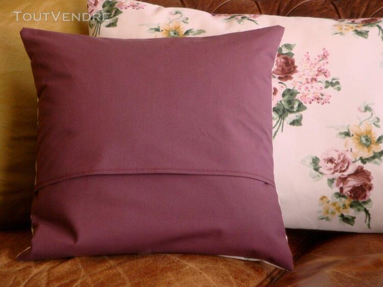 Housse coussin carrée - 1 à 6 - feuille & fleur - blanc