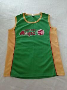 Orlando magic vintage jersey green yellow medium rare nba