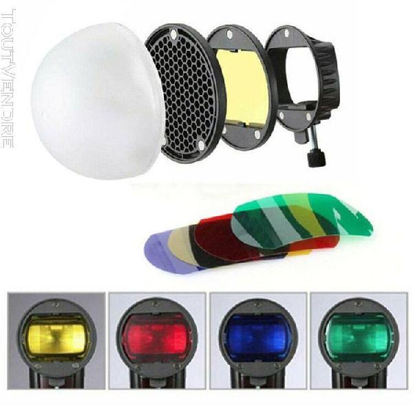 Accessoires pour flash réflecteur universel de grille nid
