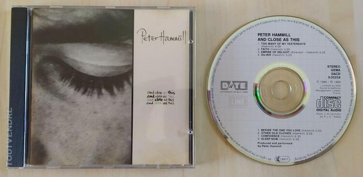 Cd peter hammill and close as this 1987 dacd 900254 excellen