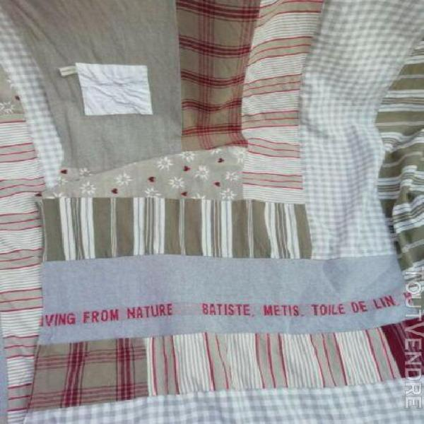 Double rideaux tissus anciens toile matelas de jouy liberty