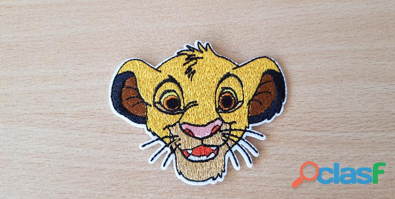 ecusson brodé Simba le roi lion 9x7 cm thermocollant, pas besoin de couture