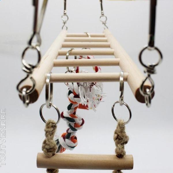 Filet d'escalade pour perroquets échelle suspendue pont