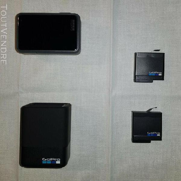 Gopro hero 5 black caméra d'action noir avec accessoires