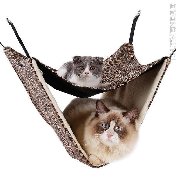 Hamac pour chat animaux domestiques tapis de lit double couc