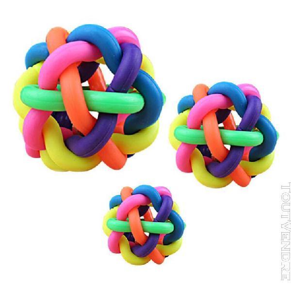 Jouet boule pour animaux de compagnie arc-en-ciel coloré