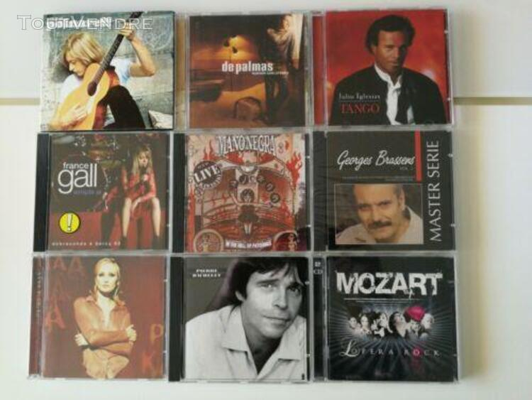 Lot de 18 cd artistes francais