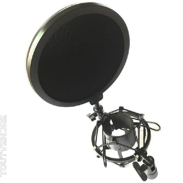 Pied de micro microphone professionnel micro support anti-ch