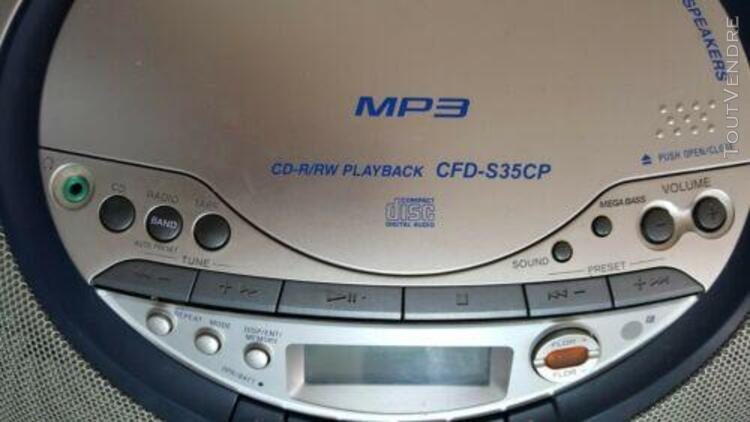 poste sony cfd-s35cp cd radio cassette boombox testÉ ok