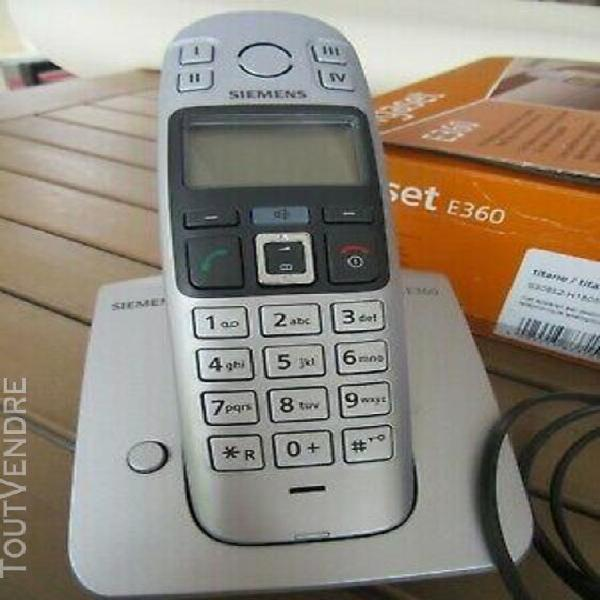Téléphone siemens gigaset e 360 fixe sans fil eco-dect