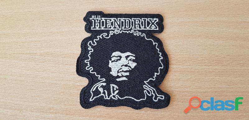 ecusson brodé Jimi Hendrix 8,5x9 cm thermocollant, pas besoin de couture