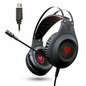 Nubwo casque gaming pc, n2 casque gaming usb son surround