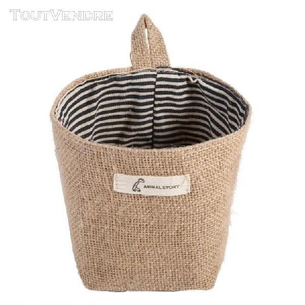 1pcs sac de rangement organisateur de rangement en lin et co