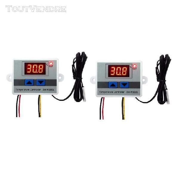 2pcs thermostat numérique régulateur contrôleur de