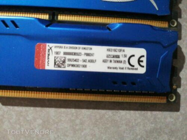 Kingston hyper x fury hx316c10f/4 ddr3 1600mhz memory ram 2