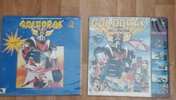 2 disque vinyle 33t goldorak grendizer(albator galaxy expres