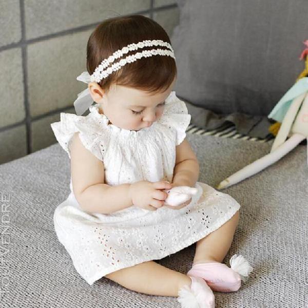 Bébé fille bandeau dentelle fleurs bandeau accessoires