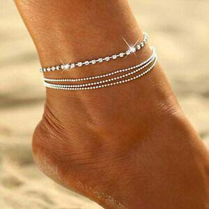 Bracelets de cheville en cristal simsly bracelets de