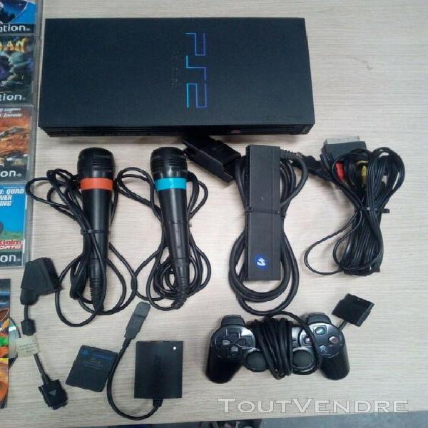 Console playstation 2 + 25 jeux + accessoires