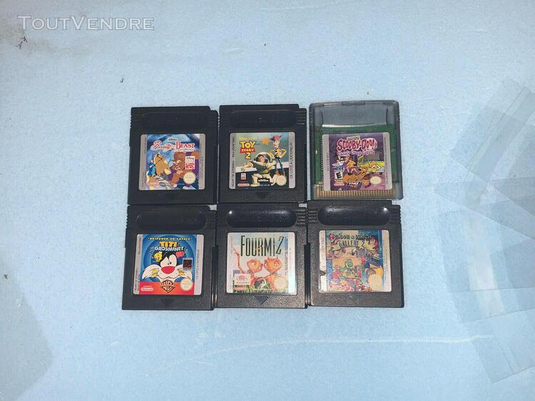 Game boy color - lot 6 jeux games&watch/titigrosminets/ toy