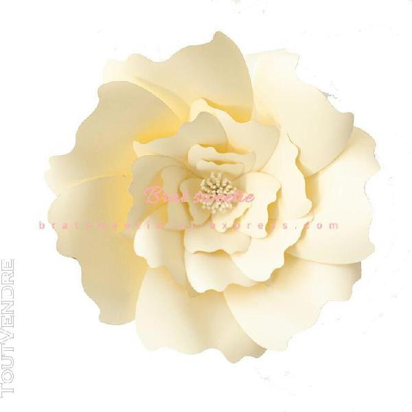 Grande rose décorative murale diy en papier fleurs grande