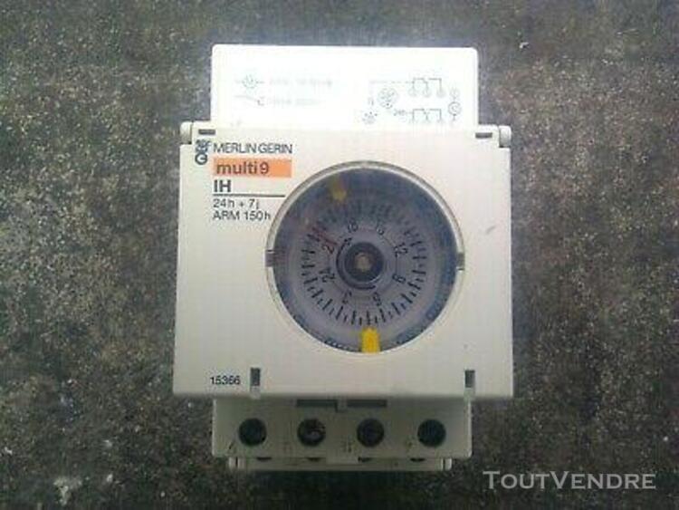 Horloge / interrupteur horaire mécanique - 24h + 7j -
