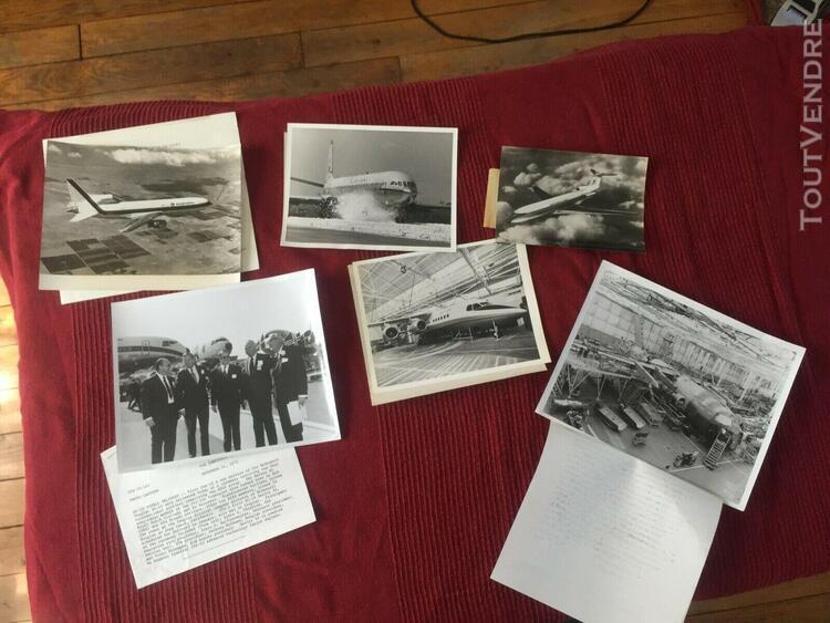Lot de photographies originales: tristar, hawker, douglas