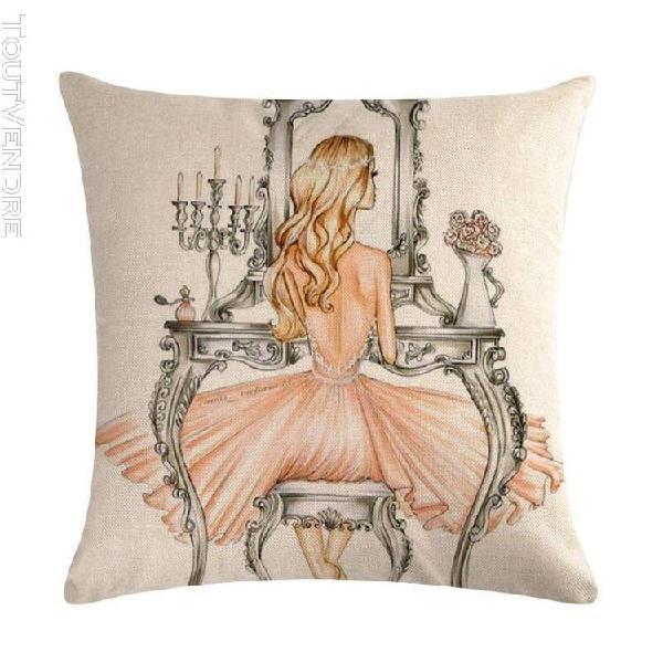 Taie d'oreiller décorative housse de coussin beauté pour