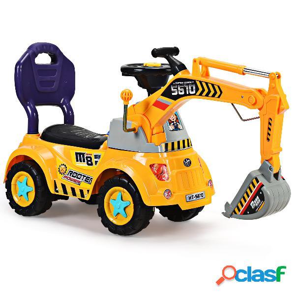 Costway excavatrice porteur enfant camion 3-5 ans 103 x 29 x 46 5cm jaune