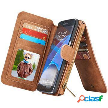 Samsung galaxy s7 edge caseme multifunctional wallet case - brown