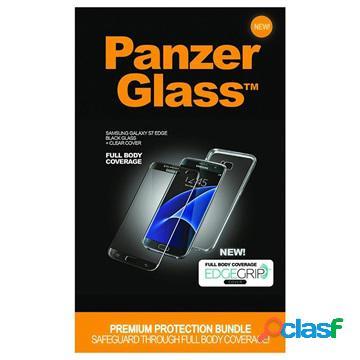 Set de protection samsung galaxy s7 edge panzerglass case friendly - noir