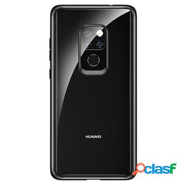 Coque hybride huawei mate 20 rock crystal clear - noir / transparent