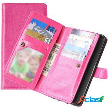 Samsung galaxy s7 edge multifunctional wallet case - hot pink