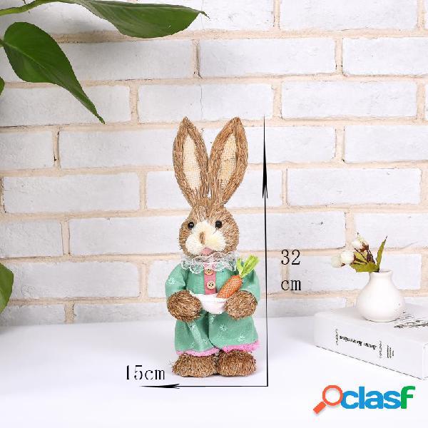 Lapin de pâques simulation maison jardin lapin décoration creative cartoon photographie