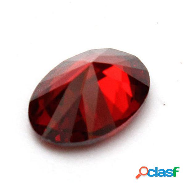 1pc diy crystal oval natural red ruby mozambique crystal