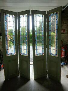 Ancienne porte separation  avec vitraux art deco