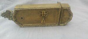 Ancienne serrure laiton bronze belobjet porte poignee