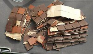Lot 380 tomettes carrées anciennes marron rouille vintage