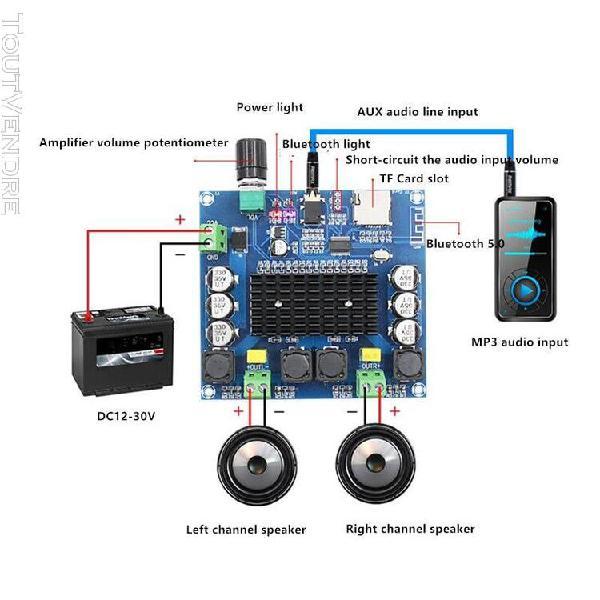 Casque amplificateur gros h-a105 bluetooth 5.0 tda7498 carte