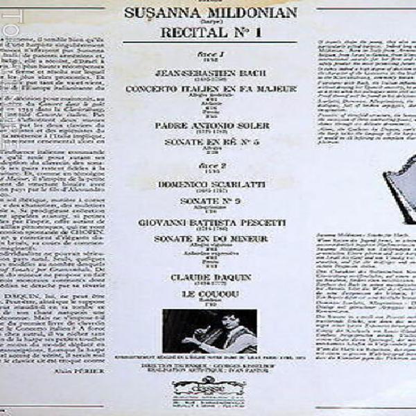 Classic susanna mildonian harp recital no 1 bach/soler/scarl