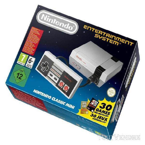 Console nintendo nes classic mini 30 jeux + 2 manettes offic