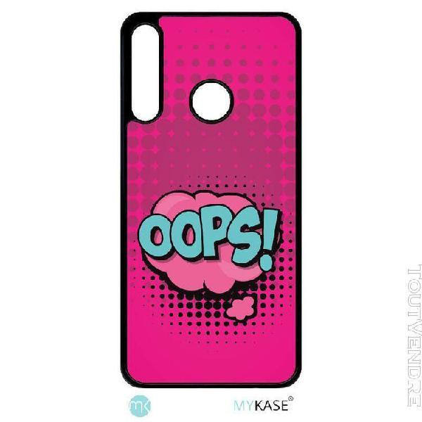 coque pour smartphone - oops fond rose fushia - compatible a