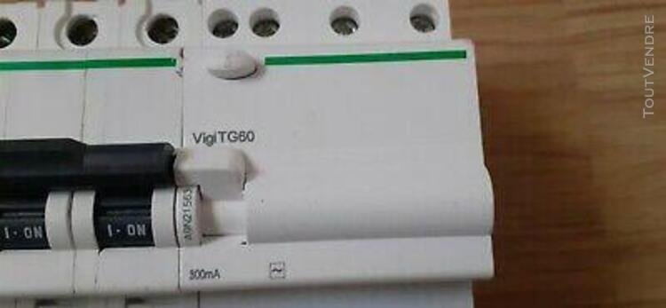 Disjoncteur différentiel 4 pôles dt60n c63 a et vigi tg