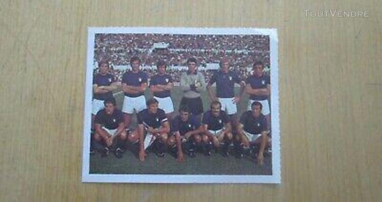 football kopa 1974 italie equipe image neuve